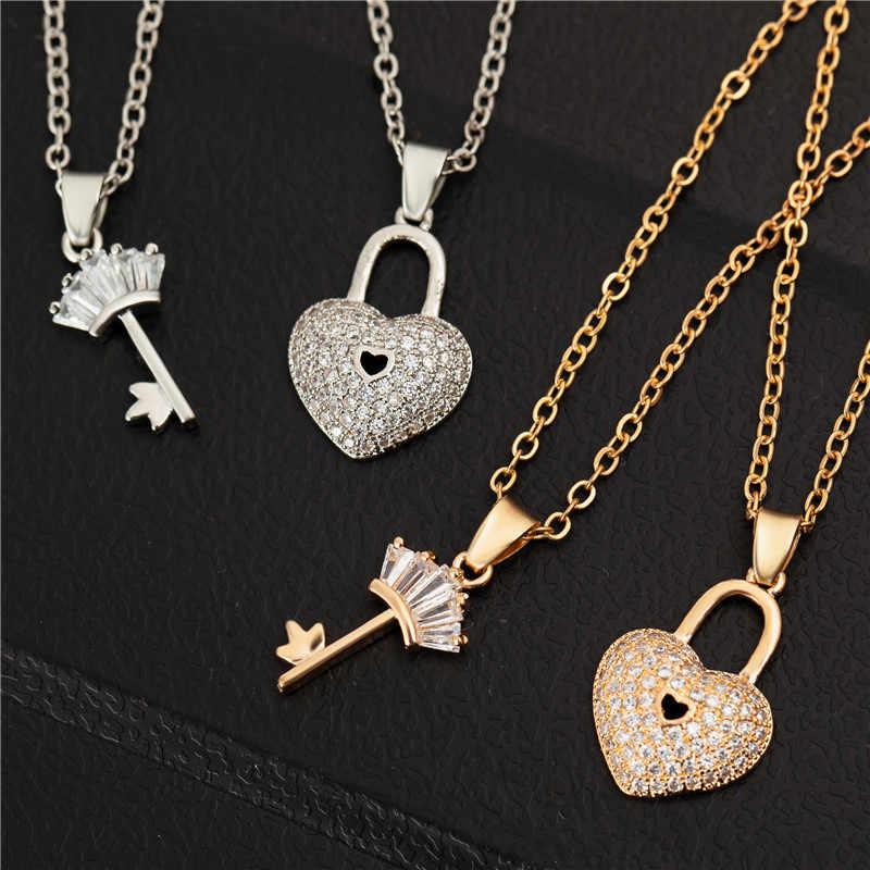 2 шт./партия, серебряные и золотые цвета, лучшие друзья навсегда, замок для ключей, новогодний подарок на Рождество для женщин, Прямая поставка, золотая цепочка-украшение, ювелирные изделия