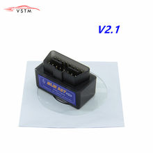 Latest Version Super Mini ELM327 Bluetooth V2.1 OBD2 Mini Elm 327 Car Diagnostic Scanner Tool For ODB2 OBDII Protocols(China)