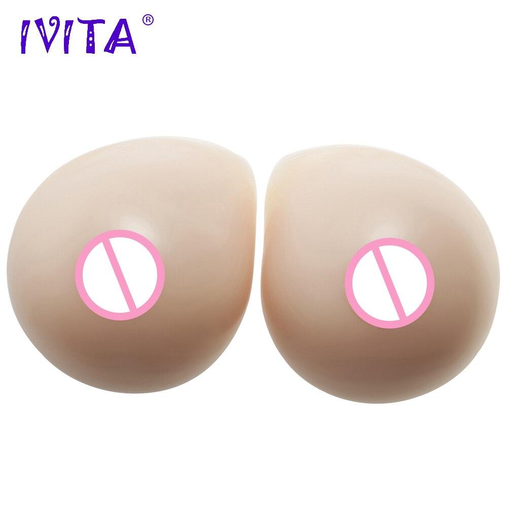 IVITA 2800g 1 Pair Realistic Silicone Breast Forms Drag Queen Transvestite Female Fake Boobs Enhancer Women Shemale Mastectomy ivita 1600g suntan realistic silicone breast forms enhancer sexy boobs for crossdresser drag queen cosplay shemale