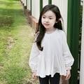 Corea marca niños otoño 2015 nuevas niñas de manga larga con volantes chaqueta de la rebeca
