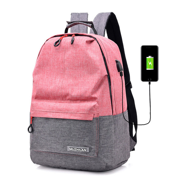 punk woman bag 15.6 laptop backpack business