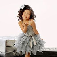 Summer Toddler Kids Girl Sequins Tulle Tutu Dress Wedding Party Mesh Tutu Sequined Dance Dress Birthday