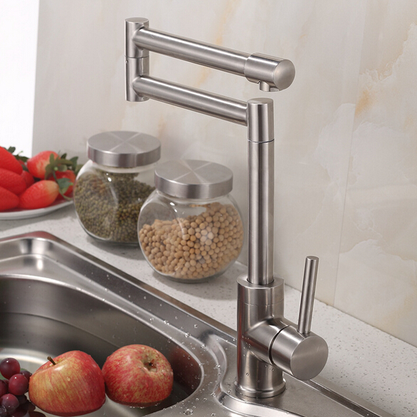 ФОТО Stainless steel 304 kitchen sink faucet stainless steel 360 degree rotating kitchen faucet sink mixer