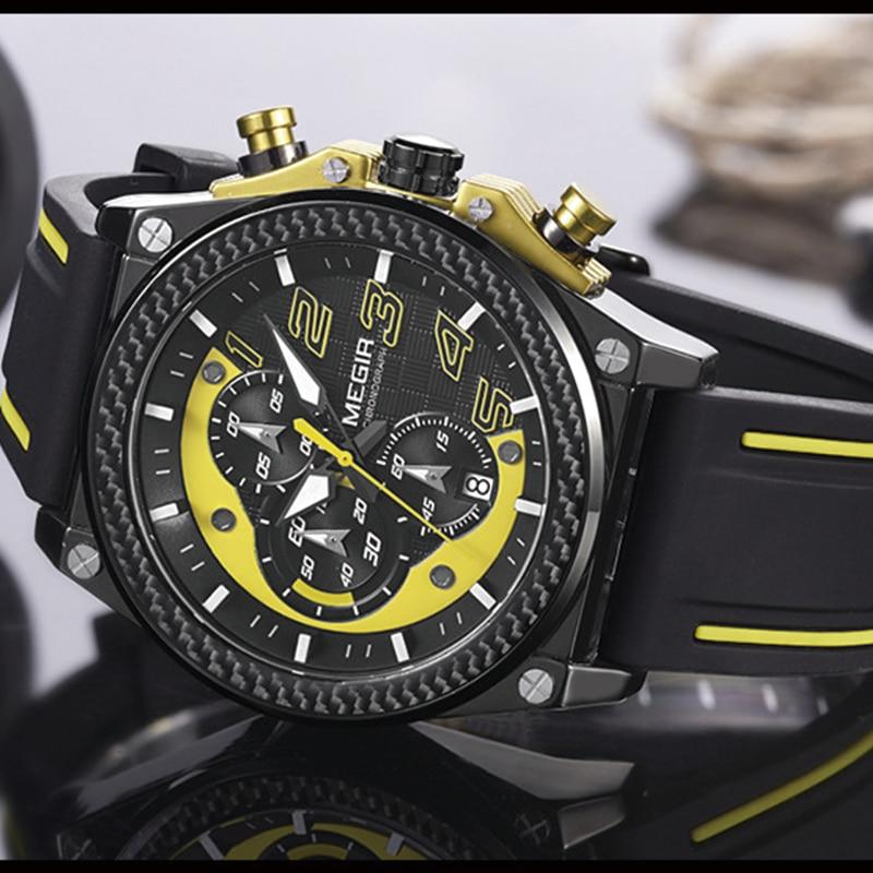 Watch Mænd Style MEGIR Luksus Brand Sports Quartz Watch Silikone - Mænds ure - Foto 2