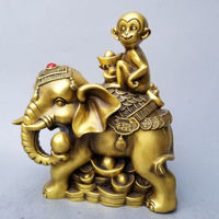 Chinese Very beautiful Brass monkey fortune crafts decorations Statue