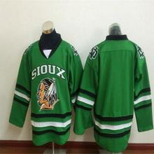 North Dakota Fighting Sioux Hockey Jersey Embroidery Stitched Customize any  number and name Jerseys(China 3bde697ac