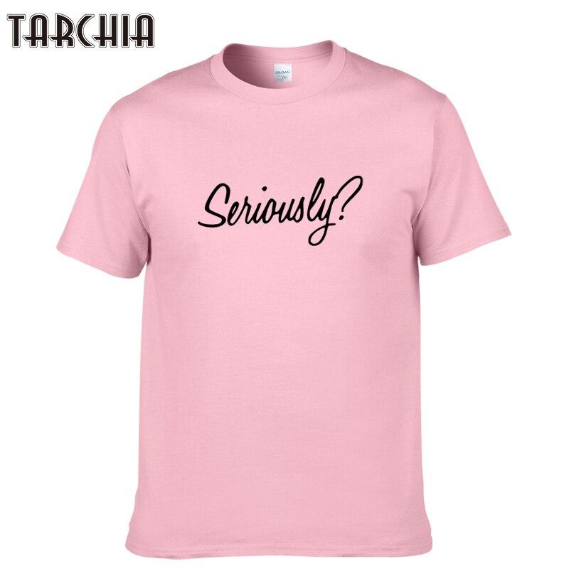 TARCHIA 2019 new fashion summer t-shirt cotton tops tees seriously men short sleeve boy casual homme tshirt t shirt plus