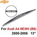 QEEPEI Rear Windscreen Wiper No Arm For Audi A4 8E/8H (B6) 2000-2006 13'' 5 door Avant High Quality Iso9001 Natural Rubber D1-33