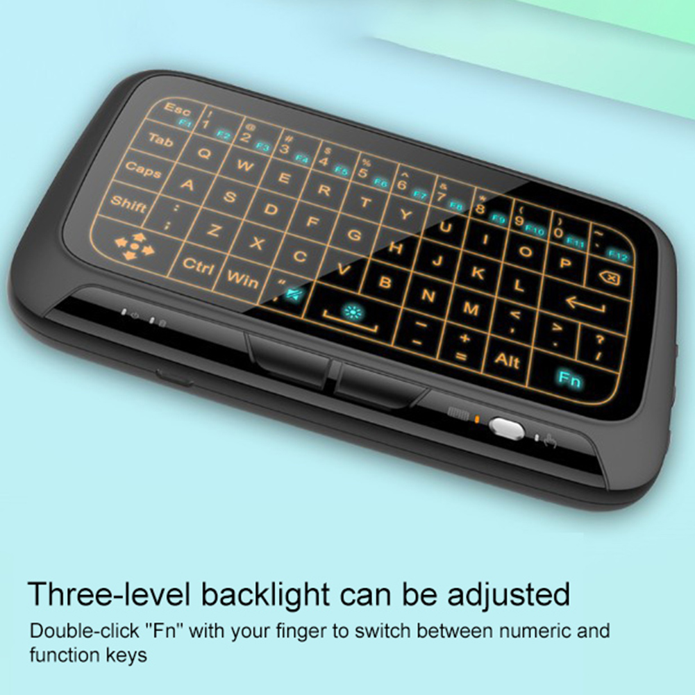 Image 4 - Backlight Wireless 2.4G Touchpad Keyboard Wireless Air Mouse for Smart TV Android Box PC Remote Controller-in Keyboard Mouse Combos from Computer & Office