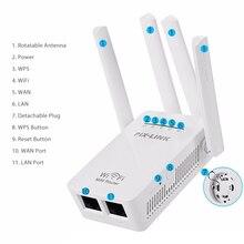 2.4/5g 4 antena wifi roteador 300 mbps faixa dupla extensor wifi repetidor sem fio wi fi roteador casa rede suprimentos