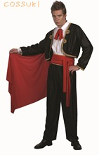Halloween Cool Adult Men Spanish Matador Spain Bullfighter Style Cosplay Costume For Stage Performance Or Masquerade Party