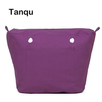 New Inner Lining Zipper Pocket For Mini Size Obag Canvas Insert With Inner Waterproof Coating For