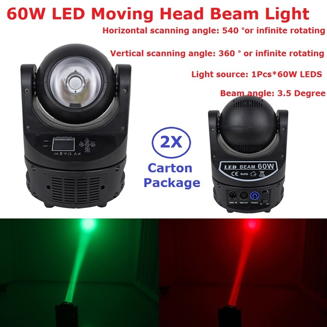 2Pack Led Moving Beam Lights Ayrton MagicDot-R 60W RGBW 4IN1 Color Mixing Beam Scanner O-S-R-A-M Lamp Bulb 18 Channels Fast Ship