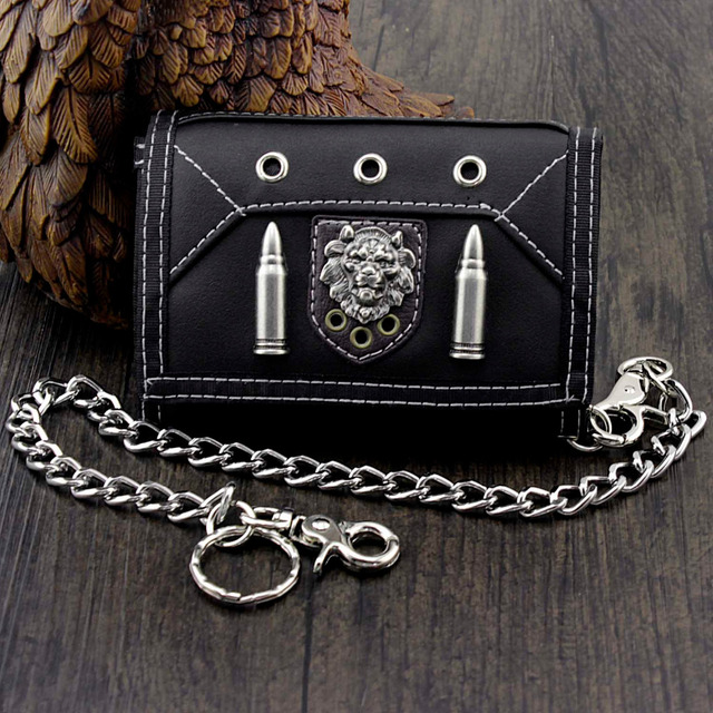 Men's Leather Wallet w/ Safe Chain 5