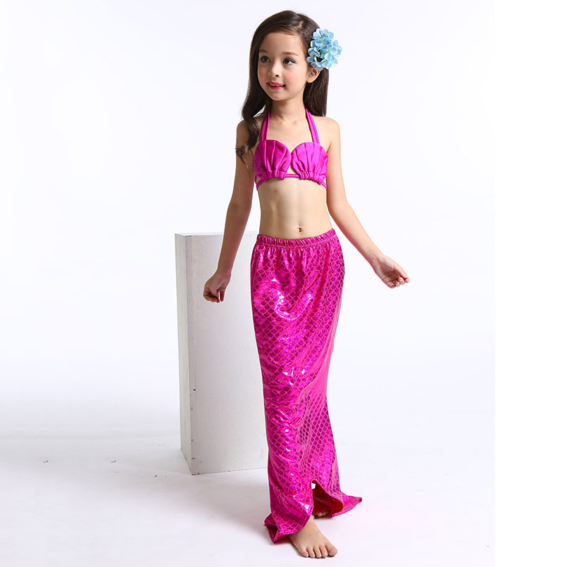 Mermaid Tail Swimming wear-rose-1