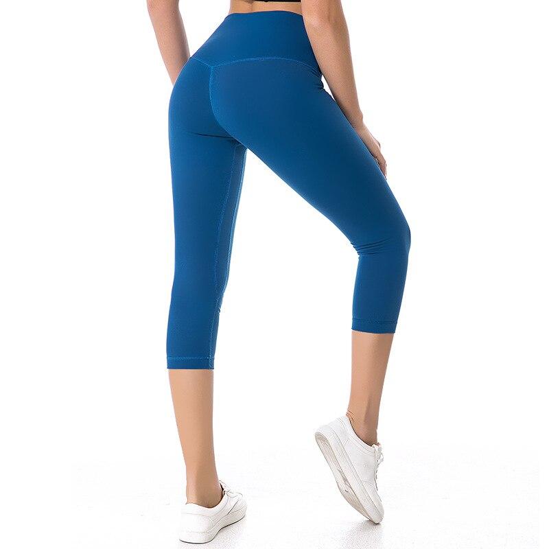 4e72381b57712 Aliexpress.com : Buy NWT 2018 Woman Capris sports gym crop sexy lulu gym  Tummy Control leggings super quality 4 way stretch fabric size us4 us12  from ...