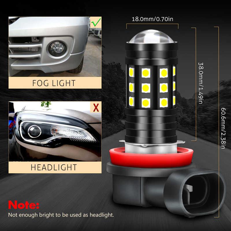 Katur 2pcs LED Car Fog Lights Lamps Bulbs H8 H9 H11 H16 5202 9005 9006 HB3 HB4 Running Driving Foggy Lamp 2700Lm Super Bright