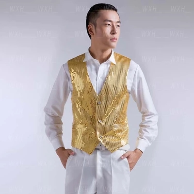 Hot Sale Slim Fit Sequins Groom Tuxedos Royal Blue Black Gold Red ...