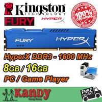 Kingston Hyperx Desktop Memory RAM DDR3 8GB 16GB 1600MHz 240 Pin DIMM 1600 Non ECC Lot