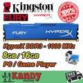 Kingston Hyperx fúria de desktop RAM DDR3 8 GB 16 GB 1600 MHz PC3 12800 não ECC 240 pino DIMM memória RAM do computador computador pc
