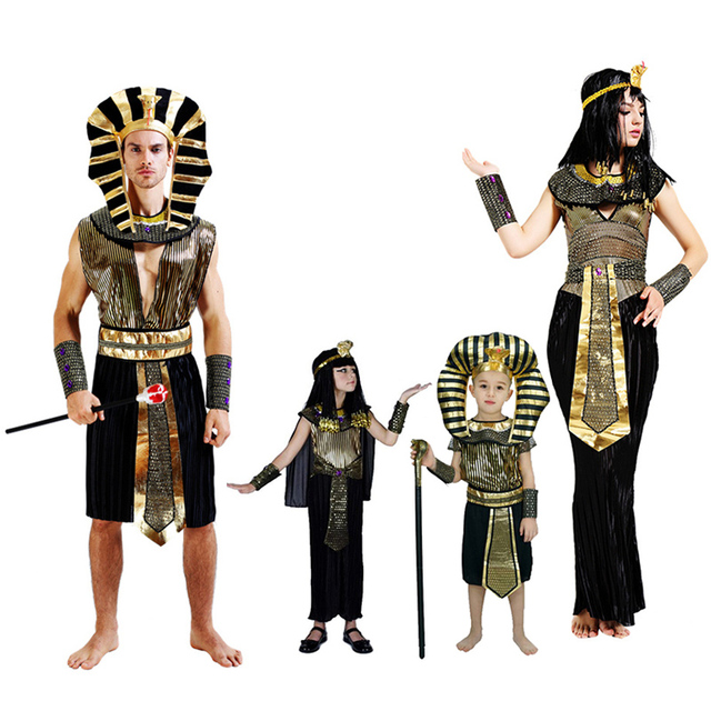 2018 Halloween Cosplay Child Ancient Egyptian Pharaoh Cleopatra Adult Costumes Girl Costume Clothes Egypt Princess Prince  sc 1 st  AliExpress.com & 2018 Halloween Cosplay Child Ancient Egyptian Pharaoh Cleopatra ...
