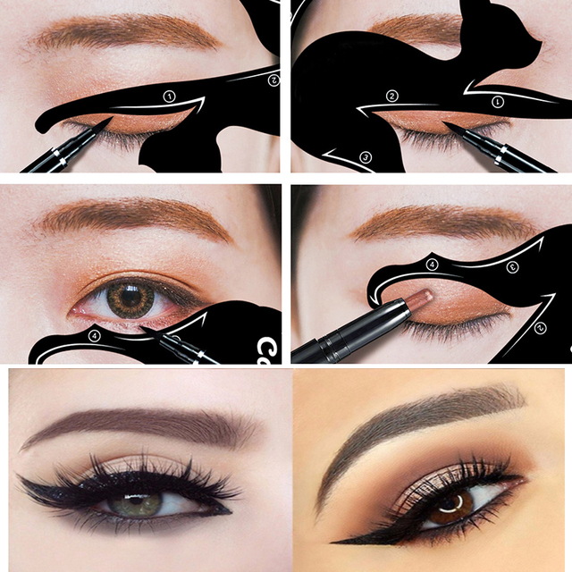 1set eye liner makeup cat eye eyeliner stencil new design eyeliner stencil models eyebrow eyes. Black Bedroom Furniture Sets. Home Design Ideas