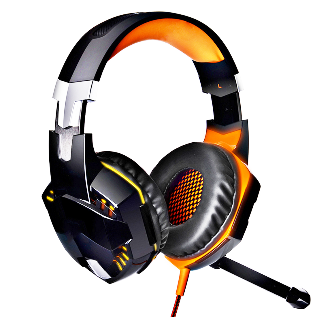 Marsnaska  Wire Gaming Headphone Gaming Headset Over Ear casque gamer Game Headphone With Microphone Mic LED light for PC philips shg7210 professional game headphones with microphone wire control headphone for xiaomi mp3 official verification
