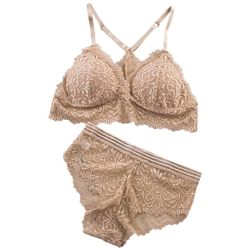 Push Up Bra Set Sexy Lingerie Underwear Women Panties And Bralette Underclothes Female Underwear Lace Bralet Set 2019 New Bomg
