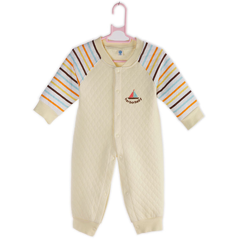 2016 Baby Rompers Girl Infant Baby Clothes Air filter thicken cotton Winter Rompers HarborBaby Newborn Baby