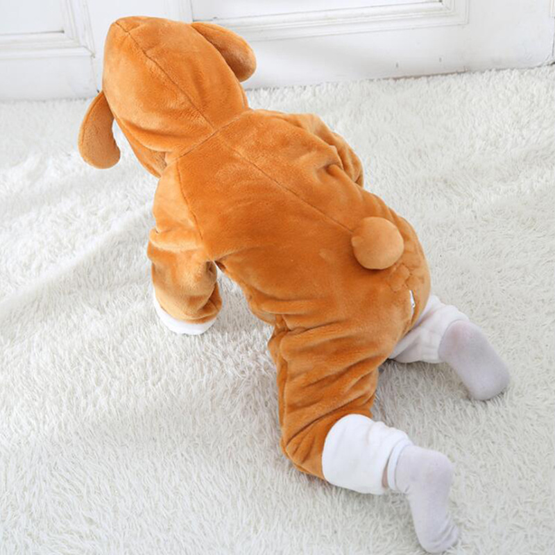 Baby Animal Big Ear Dog Kigurumi Pajamas Clothing Newborn Anime Infant Romper Onesie Cosplay Costume Outfit Hooded Jumpsuit
