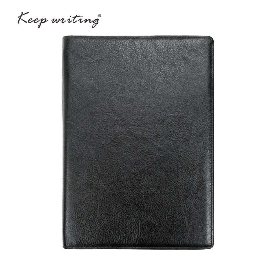 A5 Leather NOTEBOOK lined pages  45 sheets 120 gsm paper stationery agenda Journal notes real leather book Durable Notepad