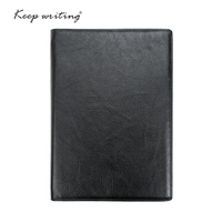 A5 Leather NOTEBOOK Lined Pages 45 Sheets 120 Gsm Paper Stationery Agenda Journal Notes Real Leather