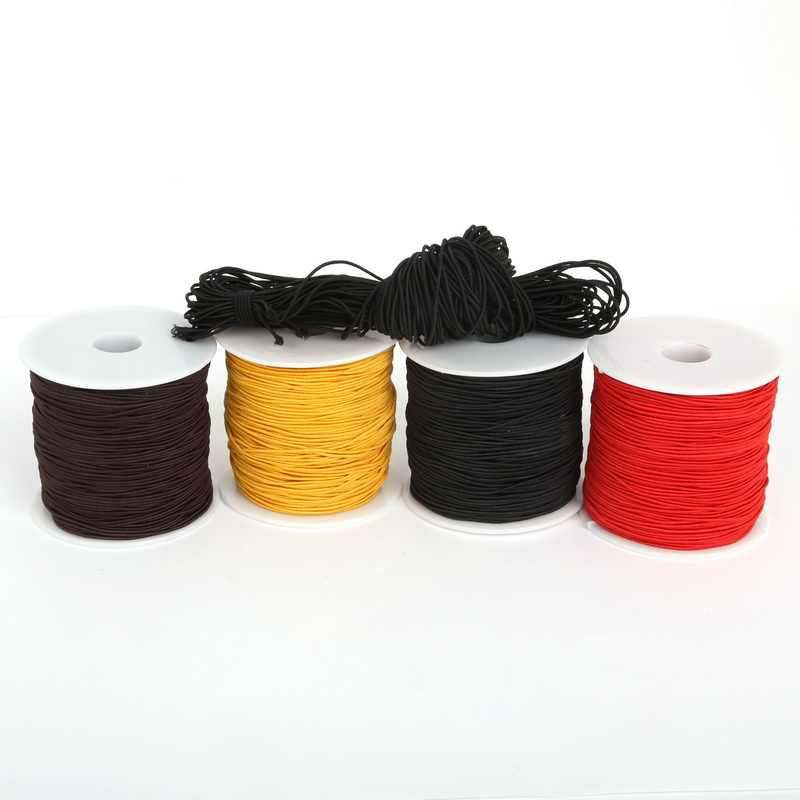 5 mtr White Round Elastic Cord String Thread 1.5 mm DIY Jewellery Making Sewing