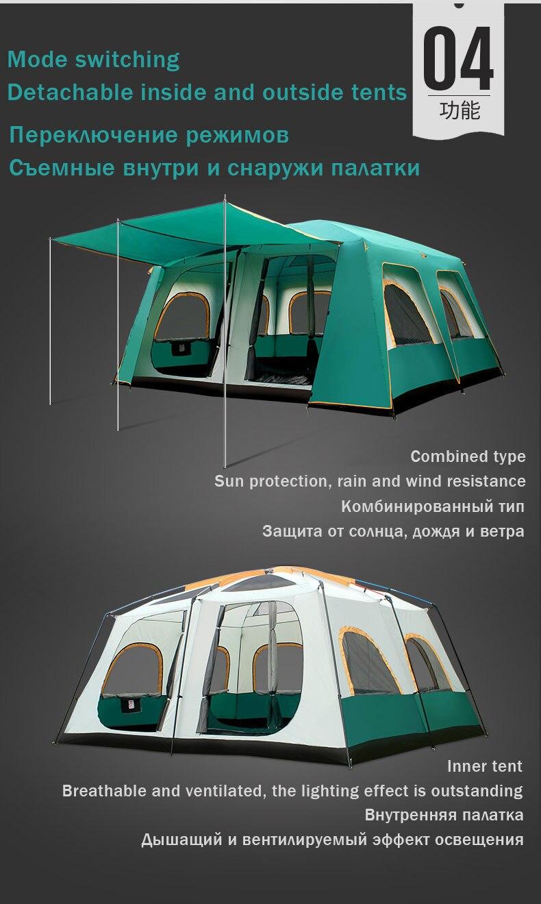 5 personas Tienda de campaña 290x 200x130cm fácil de configurar cómodo refugio DOM al aire libre