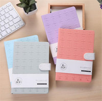 Simple Magnetic Buckle Solid Color Notebook 128Sheet Horizontal Line DIY Sketchbook Diary Drawing Notepad DD1391
