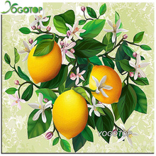 YOGOTOP 5D Diamond Embroidery Oranges Diy Diamond Painting Cross Stitch Mosaic Crafts Square Diamond Pattern Rhinestones VS453(China)