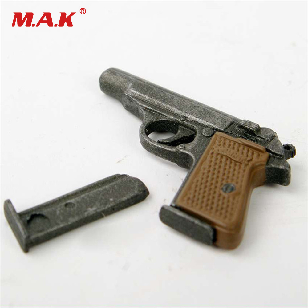 1/6 Scale Dragon Weapon Model Automatic Pistol Walther PPK Gun Model For 12