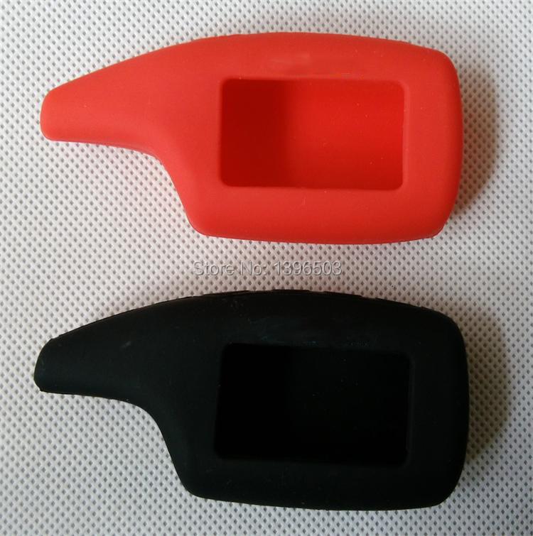 Wholesale Silicone Key Case For Russian Scher-Khan Magicar 5 6 Lcd Remote Control Key Chain Fob Scher Khan M5,M6,M902/M903F