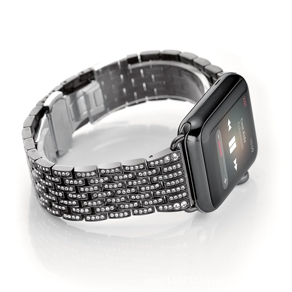 все цены на Luxury 316L Stainless Steel band for apple watch series 3 2 1 42mm/38 strap butterfly buckle watchband & metal watch bracelet онлайн