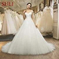 ML-0030 Vestido De Noiva Sexy Wedding Dress Custom Made Ivory Lace Cap Sleeve Bride Gown Lace Wedding Dresses