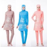 4XL Long Sleeve Muslim Swimsuit Muslim Clothe Two Pieces Women Swimwear Muslim Swimwear Comfortable Swimming Burkini Fashion