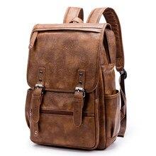 f7651cbd33b5 GUMST Brand Laptop Backpack Men s Travel Bags 2018 Multifunction Waterproof  Brown PU Computer Backpacks For Men