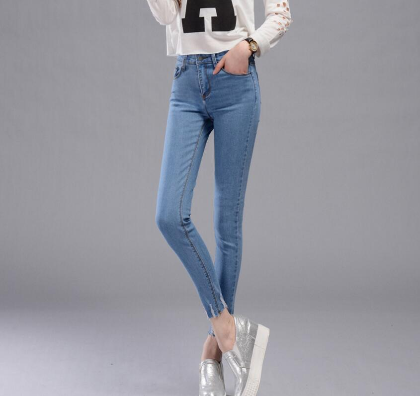 64f43fdbdd9 Ripped Jeans For Women Skinny Denim Capri Jeans Femme Stretch Plus Size  Female Jeans Vaqueros Mujer Slim Pencil Pants For Women-in Jeans from  Women's ...