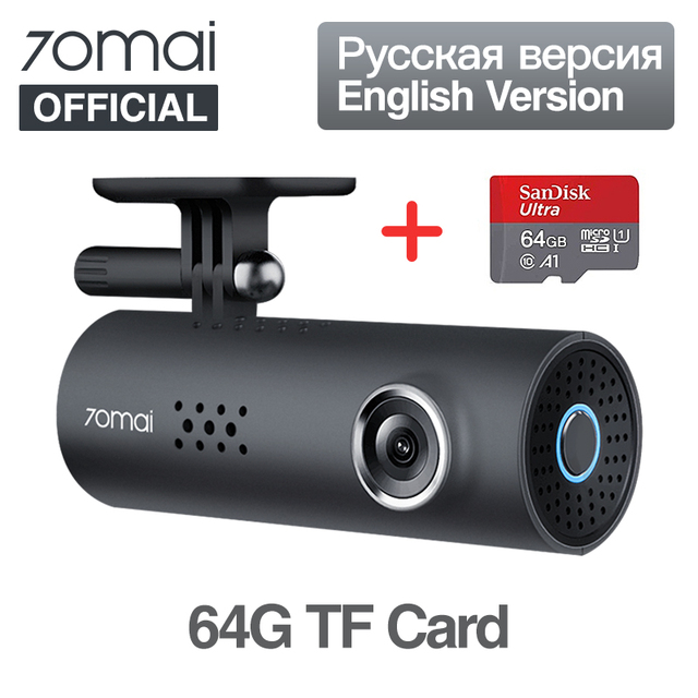 US $41 39 31% OFF|International 70mai Car DVR 1080HD Smart Dashboard  English Car Camera 64GB APP Control Driving Recoder 130 FOV G Sensor Dash  Cam-in