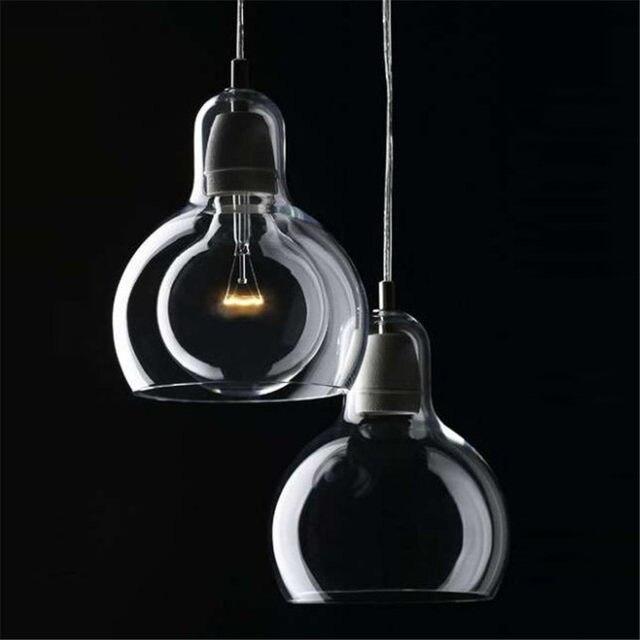 Tienda Online Moderno Led lámparas ámbar/transparente cristal claro ...