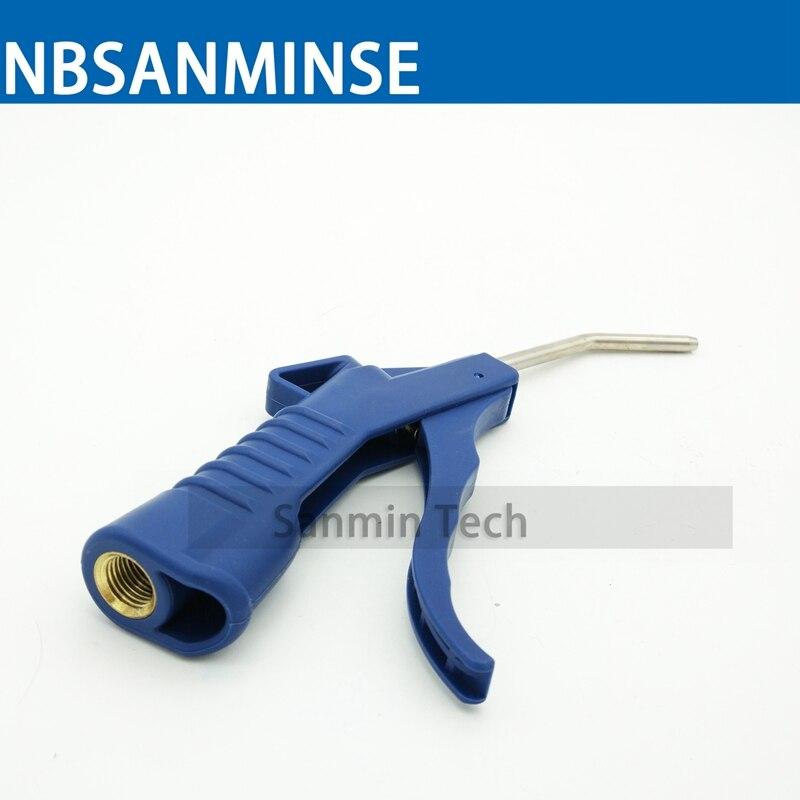 цена на SMABG09 1/4 Air Pneumatic Blue Plastic Blowing Dust Gun Grip Gun With Air Pipe Blow Air Pressure Convenient Tool Sanmin