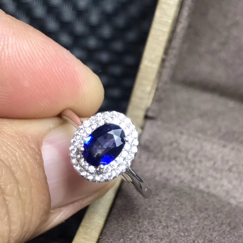 Uloveido 925 Silber Dark Blue Sapphire Versprechen Ring Klassische Seltene Edelstein Birthstone Billig Hochzeit Schmuck für Frauen 20% FJ311-in Ringe aus Schmuck und Accessoires bei  Gruppe 3