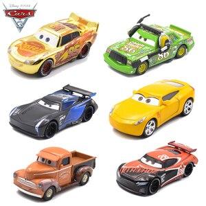 Image 1 - Disney Pixar Cars 3 2 Metal Diecast Car Toy Black Storm Jackson Lightning McQueen Truck Model Children Car Toys Christmas Gift