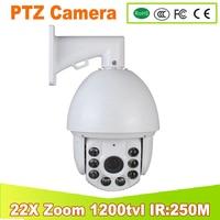 YUNSYE 2017 NEW Analog 22X Optical Zoom 1200TVL SONY CCD High Speed PTZ IR Dome CCTV