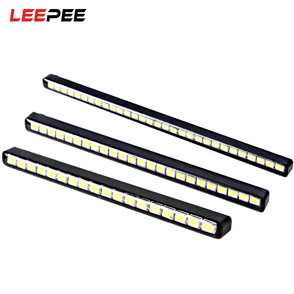 LEEPEE Universal Super Bright Car Daytime Running Lights DC 12V Car daytime LED light DR ...